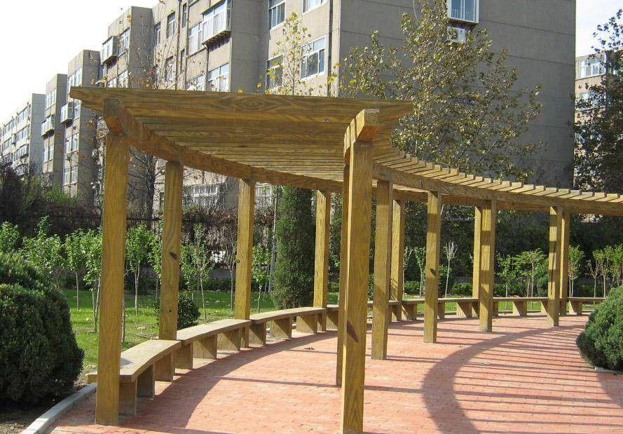 莱芜防腐木花架的施工组织设计