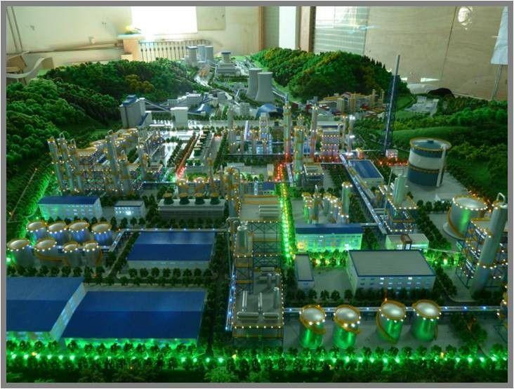 延寿县工业沙盘模型景观树种做法