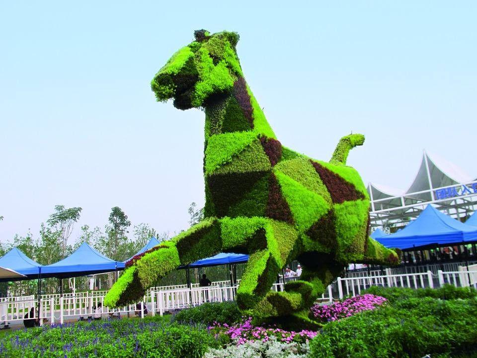 武汉蔡甸区立体花坛一般用什么植物