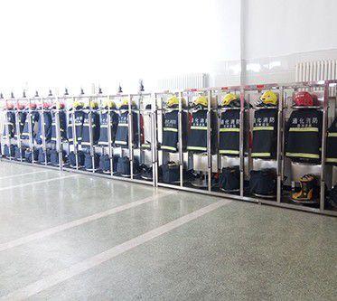 讷河市消防队的战斗服架子专业厂家