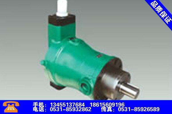 吉林白山高压柱塞泵尺寸亮出专业标准