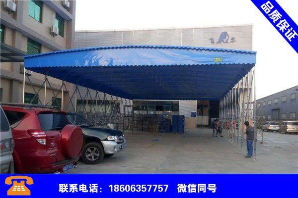 天津宁河工厂推拉雨棚建设