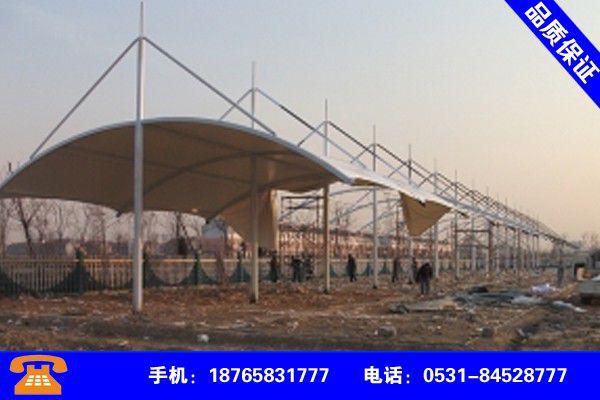 安徽六安膜结构停车棚厂家价格同比上涨