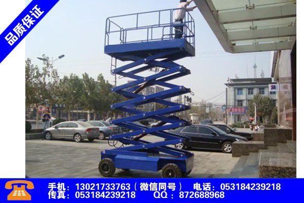 衢州柯城导轨式升降平台出租报价表