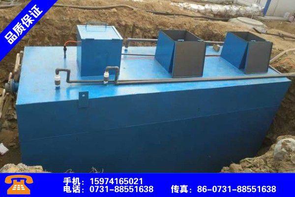 延安安塞生活污水处理实拍产品的选用