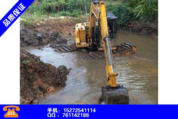 常德澧县水上河道清淤挖机出租百科知识