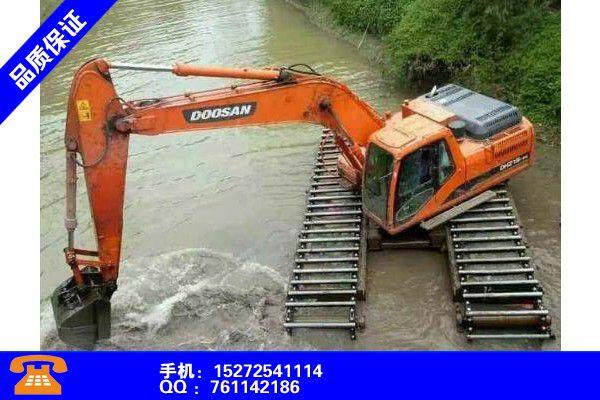 广州萝岗区水上两用挖机出租租赁费用合理