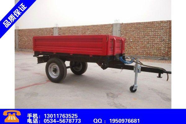 甘孜藏族道孚农用拖车厂家价格同比上涨