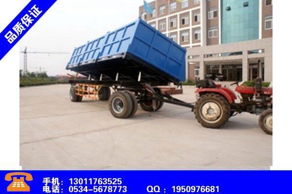 北京朝阳农用拖车的优点赢得市场