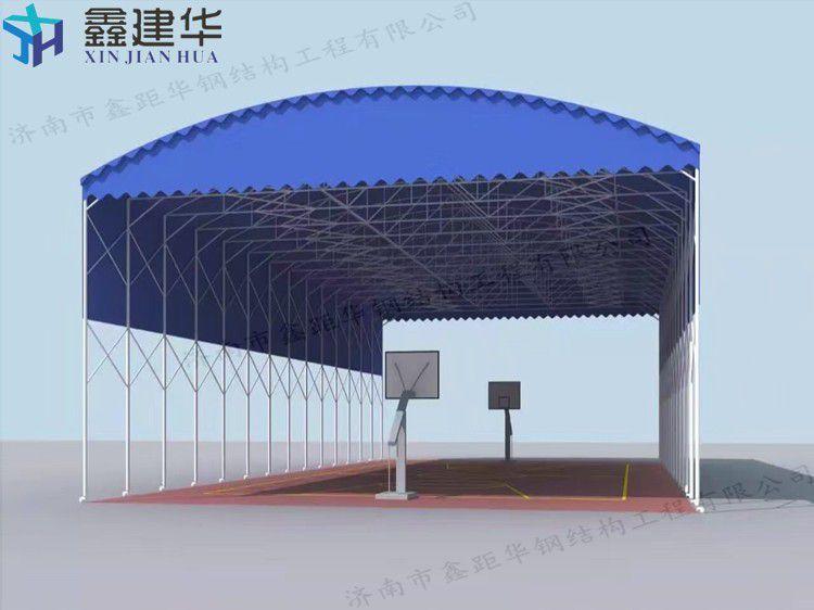 港口移动推拉雨棚建设